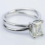 Cross Split-Shank Emerald Diamond Engagement Ring (1.71 ct.) - small angle 3