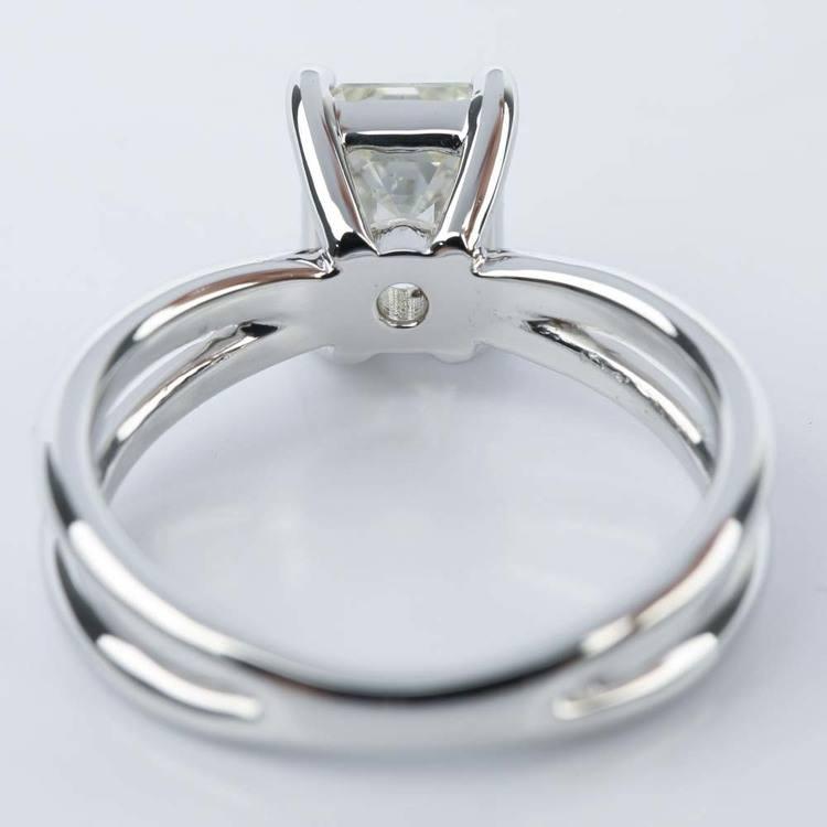 Cross Split-Shank Emerald Diamond Engagement Ring (1.71 ct.) angle 4