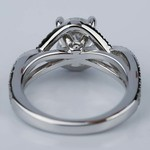 Cross Split Shank Engagement Ring with Moissanite Center Stone - small angle 4