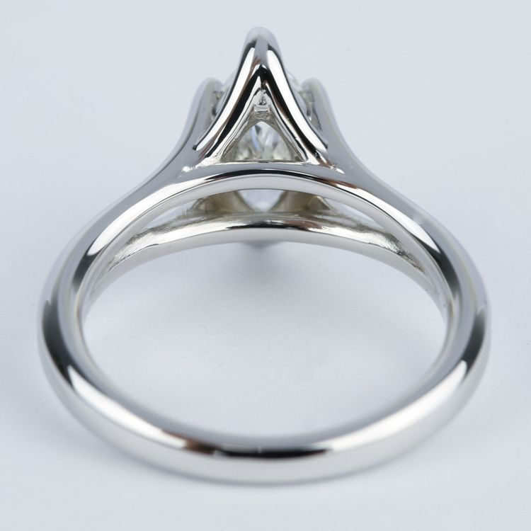 Curved Split Shank Marquise Diamond Engagement Ring angle 4