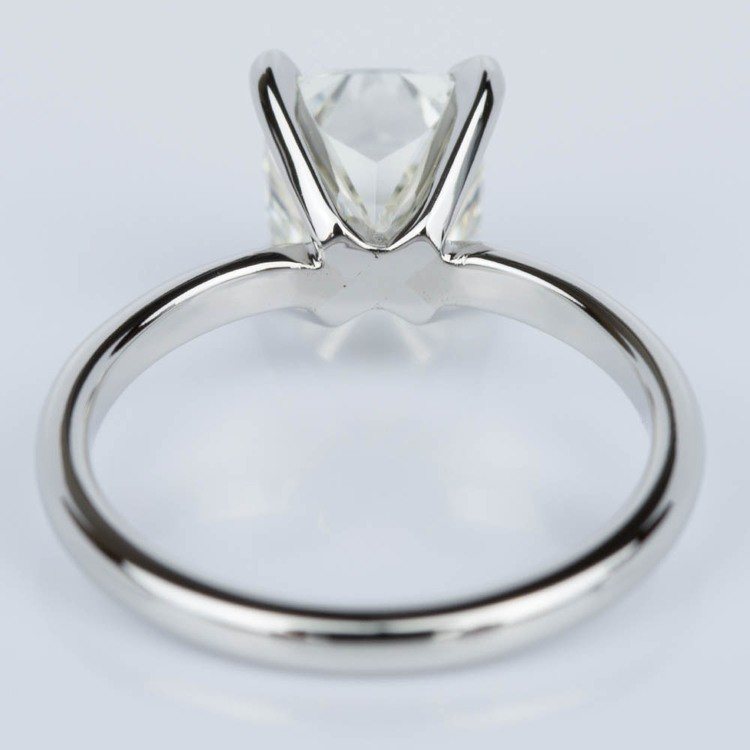 cushion cut solitaire engagement ring in platinum