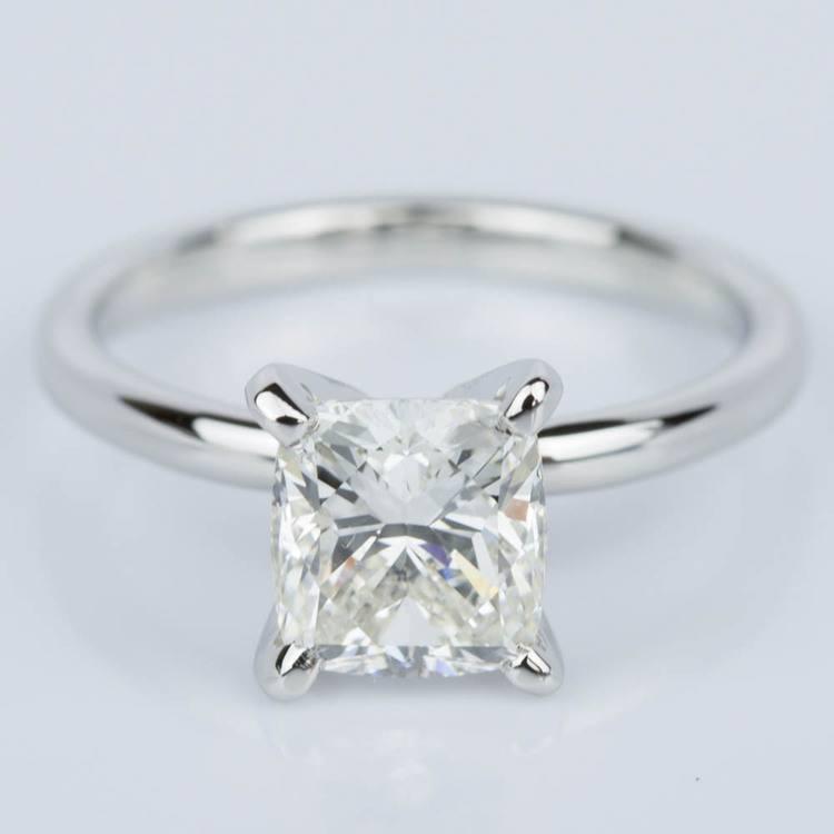 Cushion Cut Diamond Solitaire Engagement Ring in Platinum (1.50 ct.)
