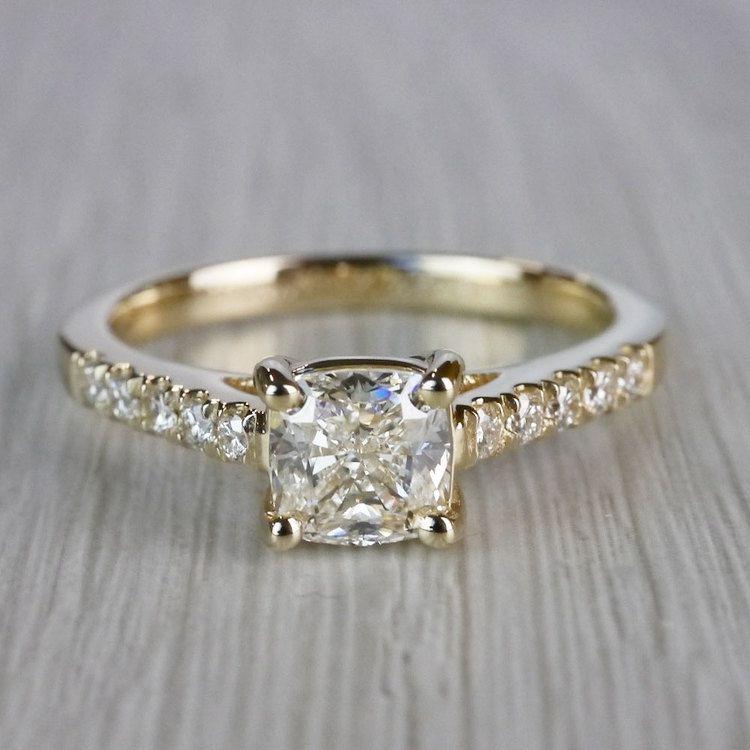 Cushion Cut Diamond Trellis Engagement Ring