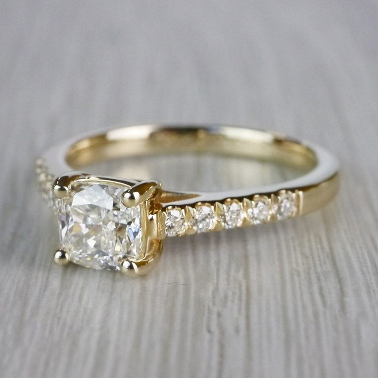 Cushion Cut Diamond Trellis Engagement Ring angle 2