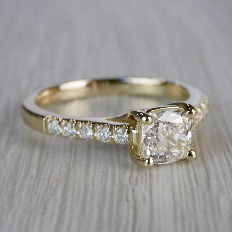Cushion Cut Diamond Trellis Engagement Ring angle 3