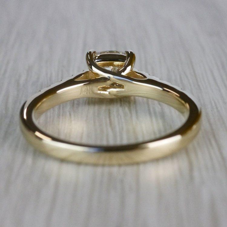 Cushion Cut Diamond Trellis Engagement Ring angle 4