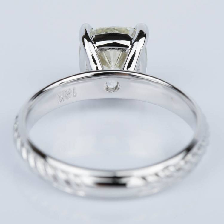 Cushion Cut Diamond with Twisted Rope Engagement Ring (1.91 ct.) angle 4