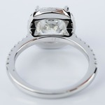 Cushion Diamond Halo Engagement Ring in White Gold (3.06 ct.) - small angle 4