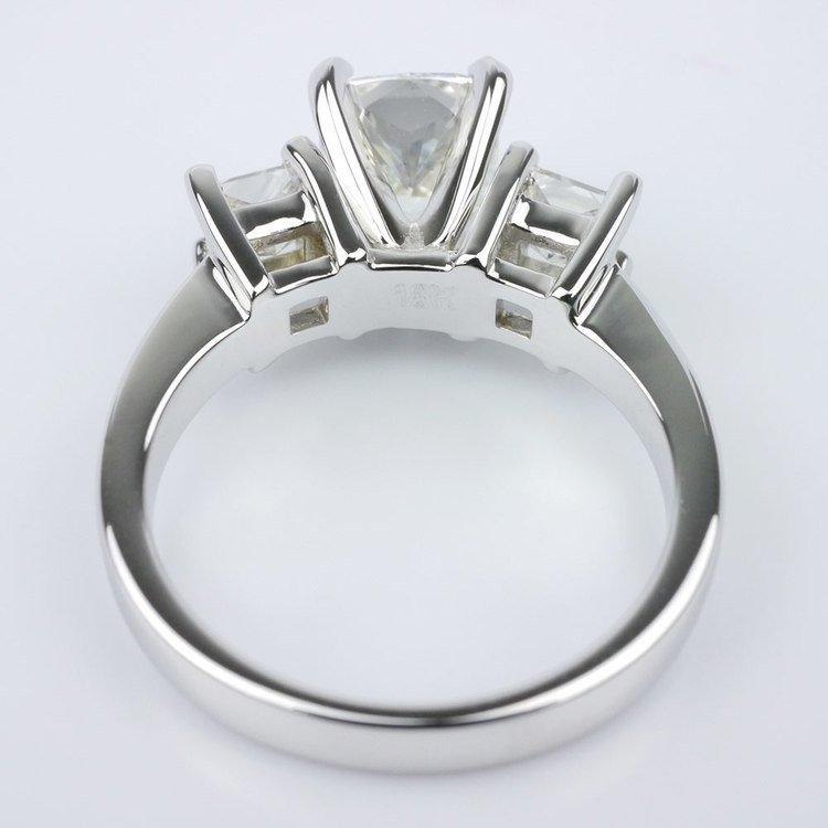 Cushion Diamond Ring With Two Princess angle 4
