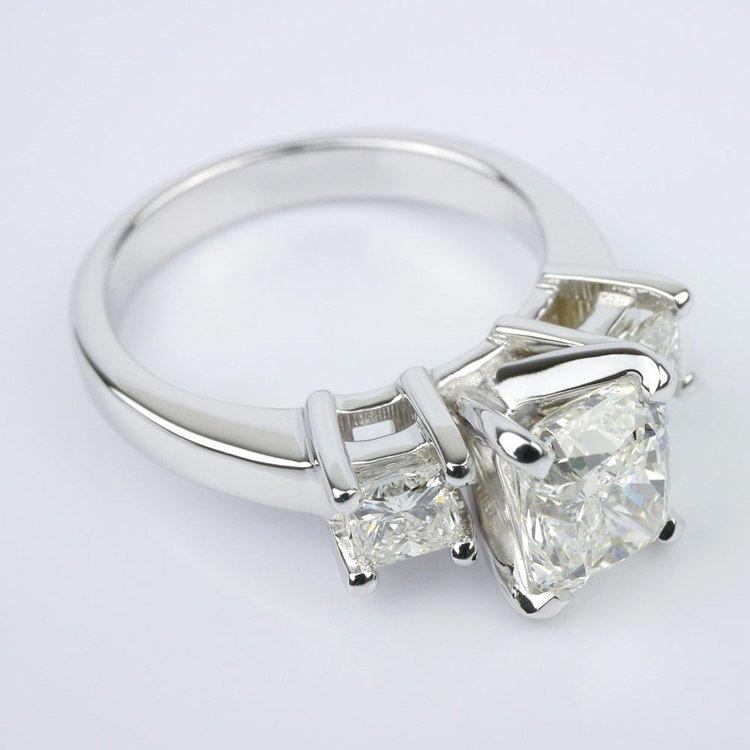 Cushion Diamond Ring With Two Princess angle 3