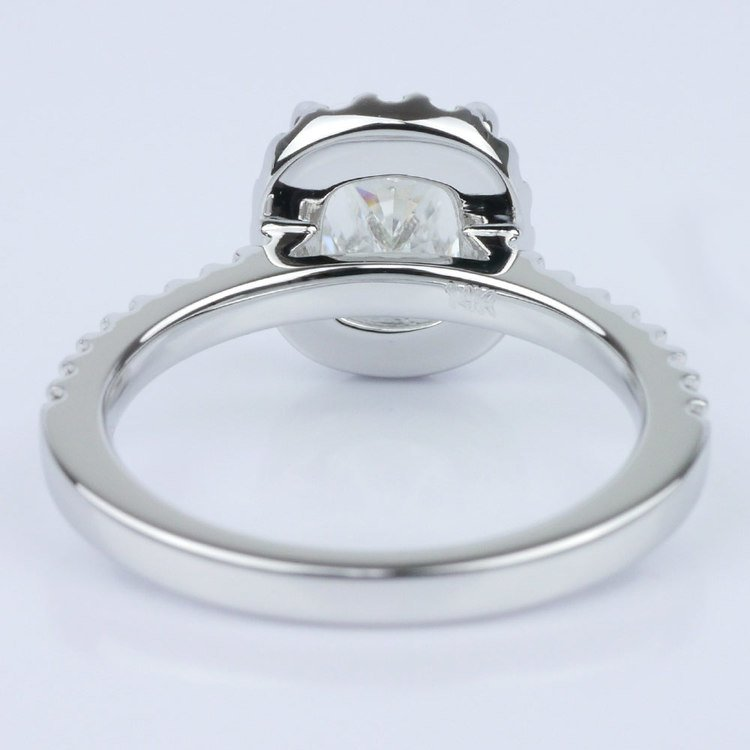 Cushion Halo Diamond Engagement Ring (1.21 ct.) angle 4