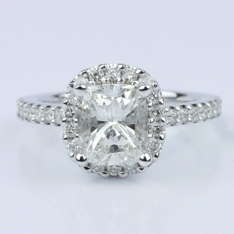 Cushion Halo Diamond Engagement Ring (1.21 ct.)