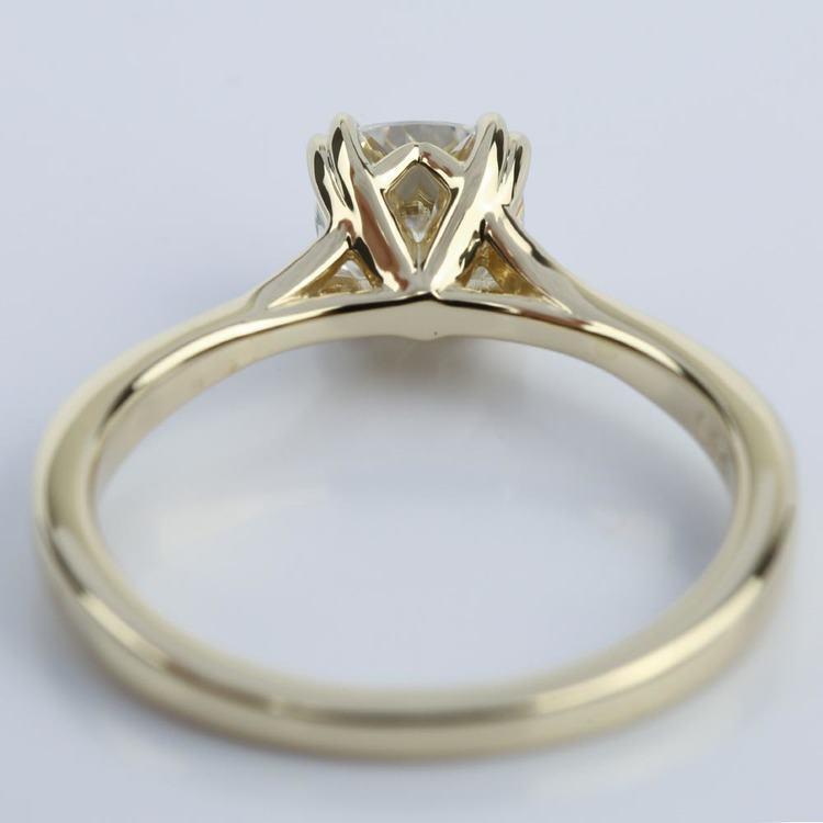 Cushion Moissanite Split Shank Diamond Engagement Ring angle 4