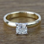 Flawless Cushion Solitaire Diamond Engagement Ring (1 Carat) - small