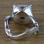 Custom 0.75 Carat Princess Diamond Engagement Ring  - small angle 4