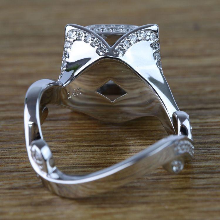 Custom 0.75 Carat Princess Diamond Engagement Ring  angle 4
