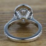 Custom 1.03 Carat Oval Petite Halo Diamond Engagement Ring - small angle 4