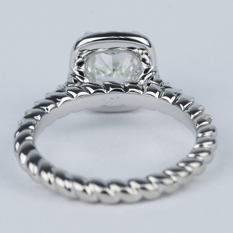 Twisted-Rope Cushion Diamond Halo Engagement Ring (1.20 Carat) angle 4
