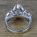 Custom 1.20 Carat Pear Halo Diamond Engagement Ring - small angle 4