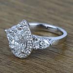Custom 1.20 Carat Pear Halo Diamond Engagement Ring - small angle 2