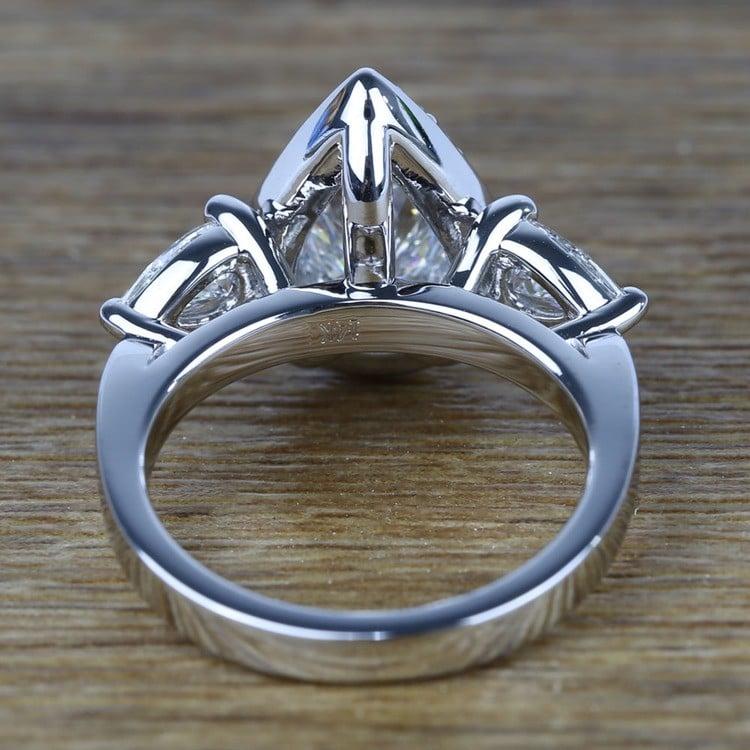 Custom 1.20 Carat Pear Halo Diamond Engagement Ring angle 4
