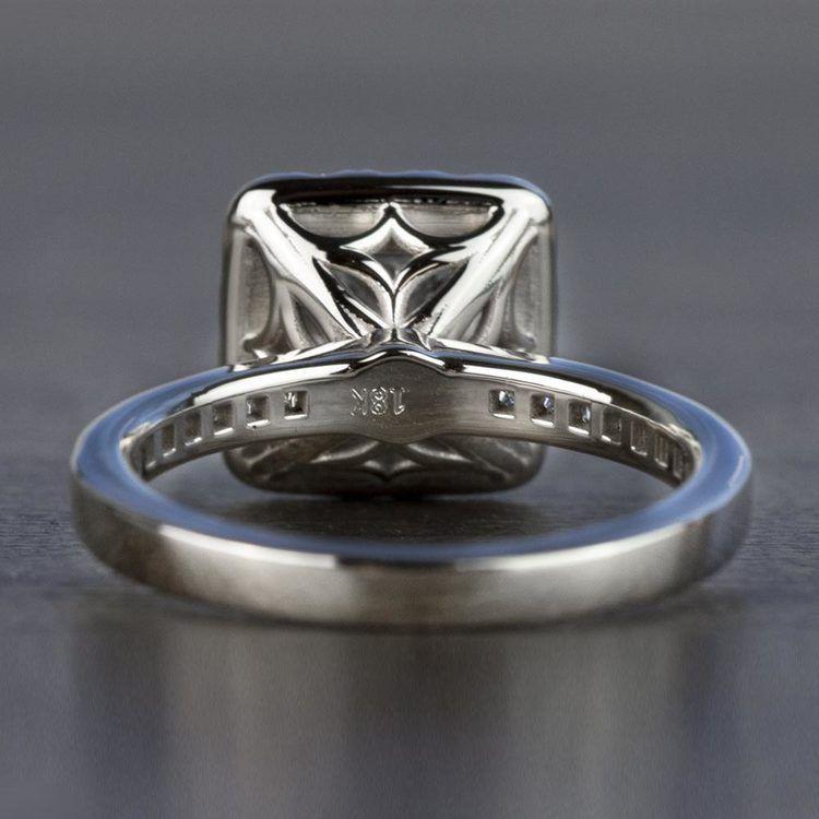 Custom 1.30 Carat Princess Halo Diamond Engagement Ring angle 4