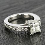 Custom Princess-Cut Diamond Engagement Ring (1.50 Carat) - small angle 3
