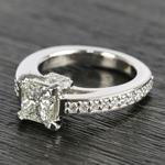 Custom Princess-Cut Diamond Engagement Ring (1.50 Carat) - small angle 2