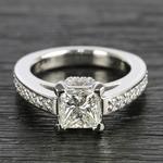 Custom Princess-Cut Diamond Engagement Ring (1.50 Carat) - small