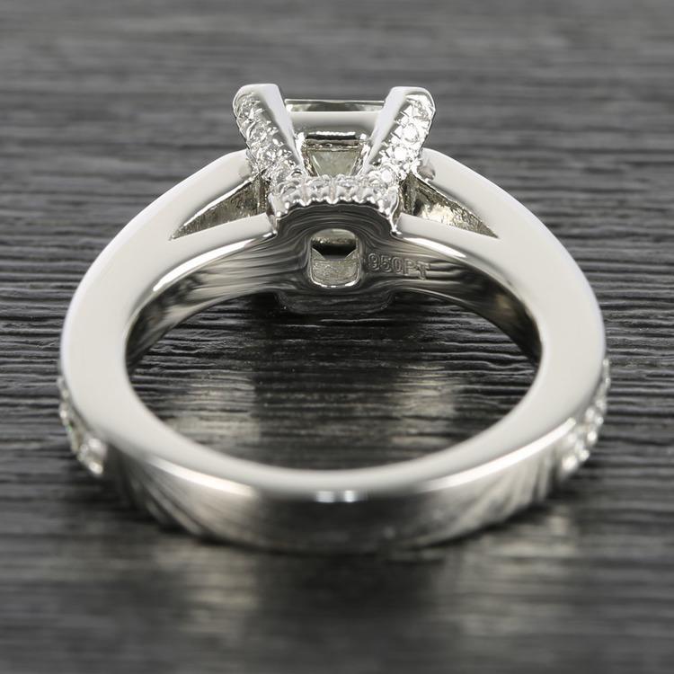 Custom Princess-Cut Diamond Engagement Ring (1.50 Carat) angle 4