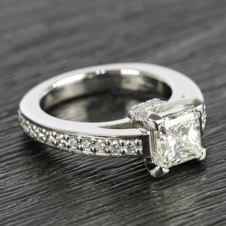 Custom Princess-Cut Diamond Engagement Ring (1.50 Carat) angle 3