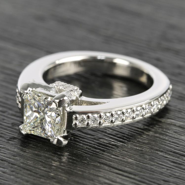 Custom Princess-Cut Diamond Engagement Ring (1.50 Carat) angle 2