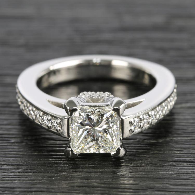 Custom Princess-Cut Diamond Engagement Ring (1.50 Carat)