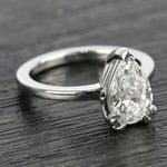 Custom 1.51 Carat Pear Diamond Engagement Ring - small angle 3