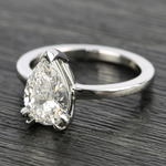 Custom 1.51 Carat Pear Diamond Engagement Ring - small angle 2