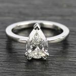 Custom 1.51 Carat Pear Diamond Engagement Ring - small