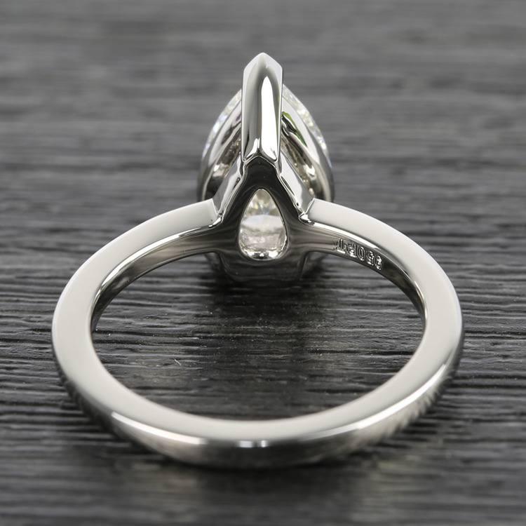 Custom 1.51 Carat Pear Diamond Engagement Ring angle 4