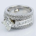 Custom 1.51 Carat Princess Engagement Ring in White Gold  - small angle 2