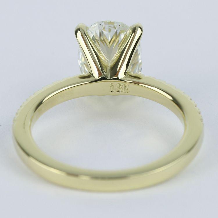 Thin Diamond Band Setting with Oval Center Diamond (1.70 ct.) angle 4
