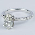 Delicate Pave Engagement Ring with Oval Diamond - small angle 2