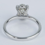 Delicate Pave Engagement Ring with Oval Diamond - small angle 4