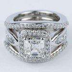 Asscher Diamond Engagement Ring with Matching Diamond Bands - small