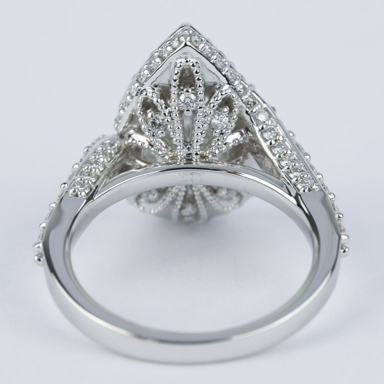 Halo Pear Diamond Engagement Ring with Vintage Detail (1.81 ct.) angle 4