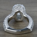 Custom Three-Sided Oval Diamond Engagement Ring (2.50 Carat) - small angle 4