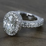 Custom Three-Sided Oval Diamond Engagement Ring (2.50 Carat) - small angle 2