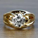 Custom 2.50 Carat Round Diamond Solitaire Engagement Ring - small