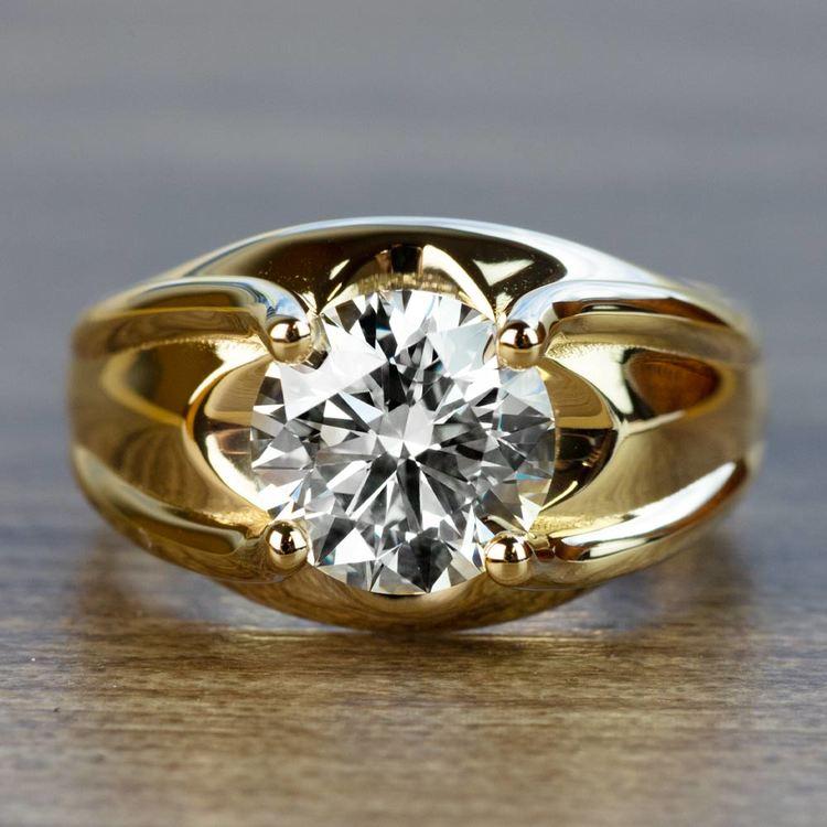 Custom 2.50 Carat Round Diamond Solitaire Engagement Ring