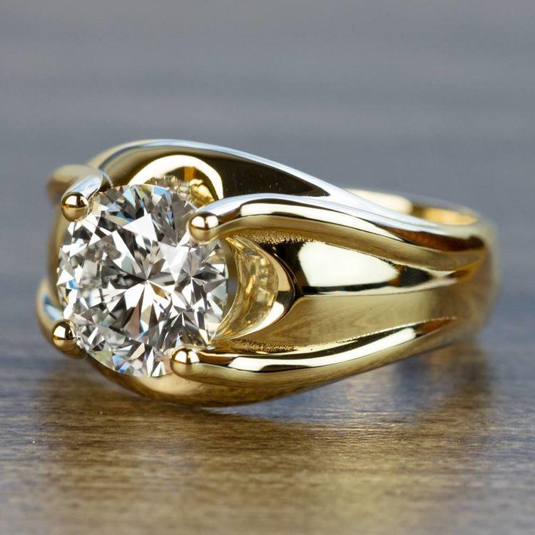 Custom 2.50 Carat Round Diamond Solitaire Engagement Ring angle 2