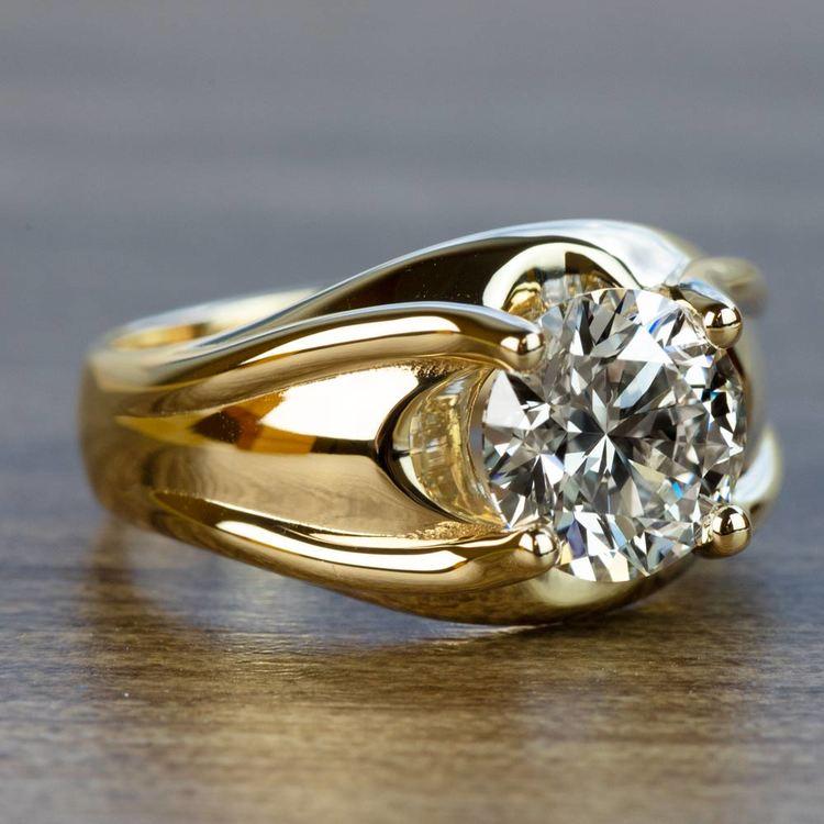 Custom 2.50 Carat Round Diamond Solitaire Engagement Ring angle 3