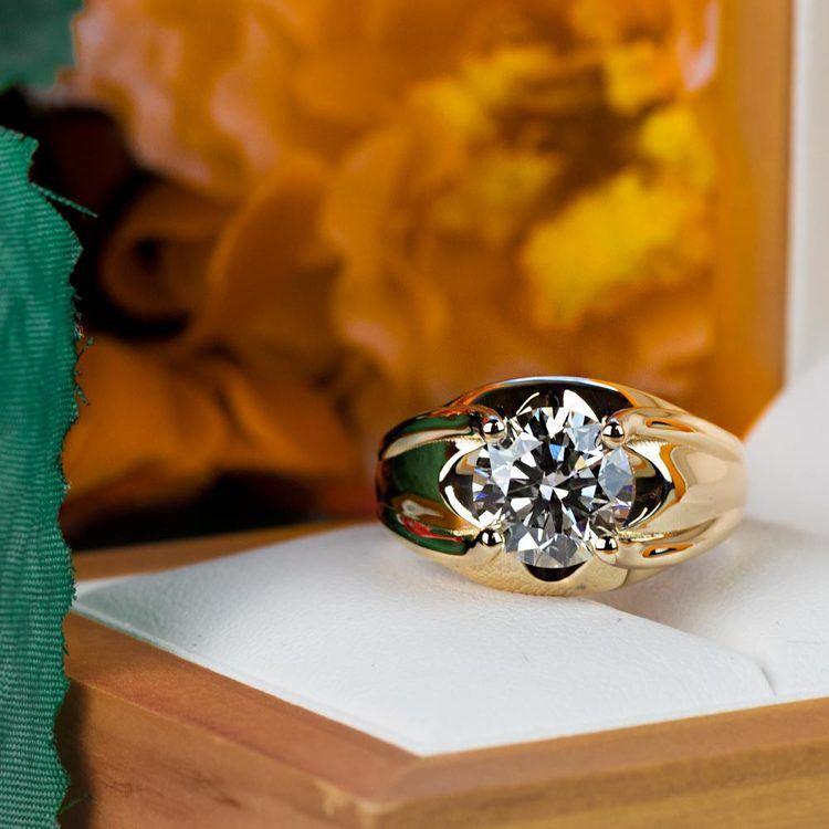 Custom 2.50 Carat Round Diamond Solitaire Engagement Ring angle 5